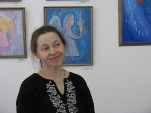 Елена Войнова на открытии выставки в Сызрани