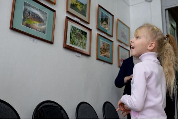 Первые посетители выставки.