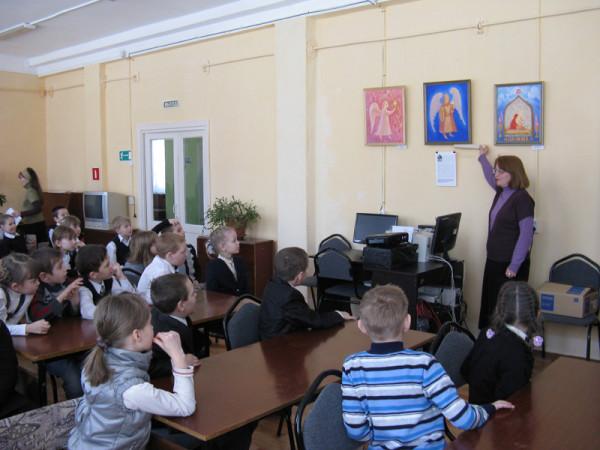 Урок Красоты в читальном зале библиотеки №2 г. Сызрани.