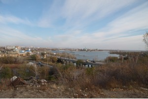 Вид на город Сызрань с Монастырской горы