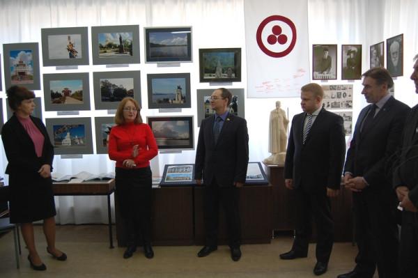 Вступительное слово председателя Общества Рерихов г. Сызрани Натальи Зоткиной (вторая слева)