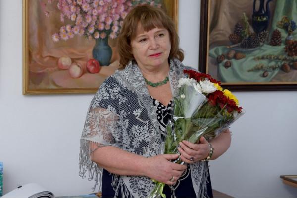 Наталья Николаевна Пушкова на открытии своей персональной выставки