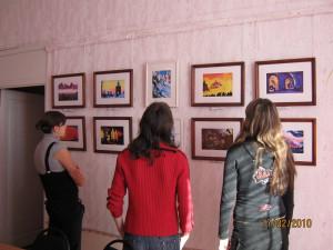 10 класс на выставке