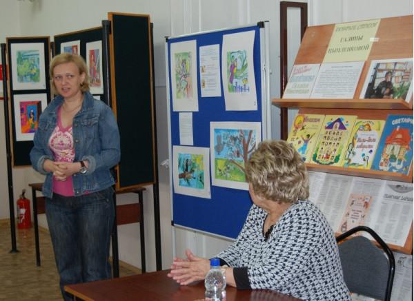 преподаватель детской художественной школы Т. В. Печенева посвятила присутствующих в творческий процесс создания иллюстрации.