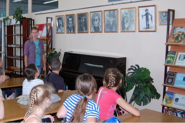 Дарья представила графические портреты современных киногероев