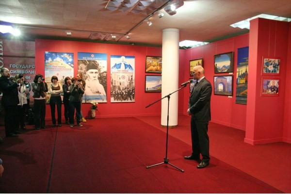 Выступает зам. министра,  директор департамента по культурному наследию  Ш.М. Хаутиев