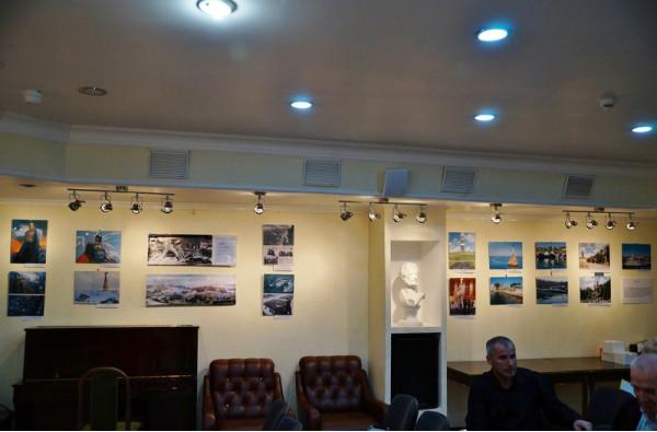 В литературной гостиной библиотеки Автограда перед открытием проекта