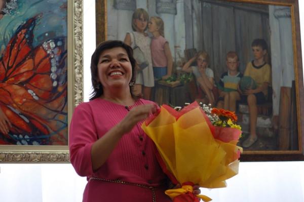 Сайда Афонина на открытии первой персональной выставки в родной Сызрани