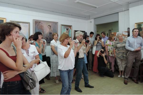 На открытии выставки Сайды Афониной