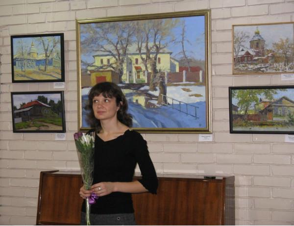 Мария Гаврилова на авторской встрече в Тольятти