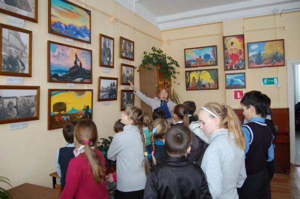 Учащиеся школы №39 на выставке